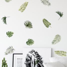 Muursticker tropische bladeren mini