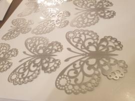 12 stuks zilveren 3d vlinders muurdecoratie (7)