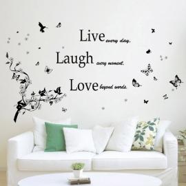 Live love laugh + tak en vlinders