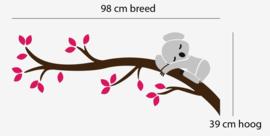 Muursticker koala op tak kinderkamer