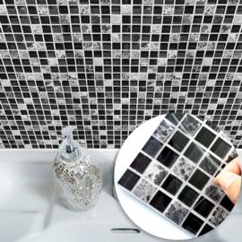 Tegel stickers moisaic ruitjes 15x15 cm