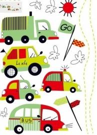 Muursticker voertuigen auto