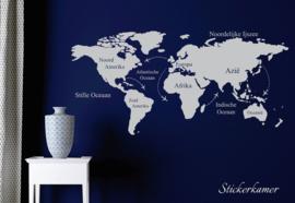 Muursticker Wereldkaart (NL)