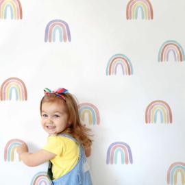 Muursticker regenboog mini regenbogen kinderkamer / babykamer