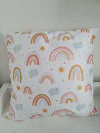 Regenboog kussen kinderkamer 40 x 40 cm
