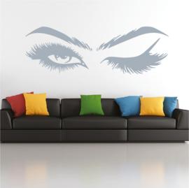 Muursticker wimpers meisjes kamer decoratie