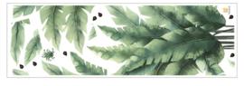 Muursticker tropische jungle bladeren