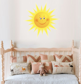 Muursticker zon kinderkamer