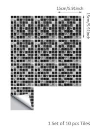 20x Tegel stickers moisaic ruitjes 15x15 cm