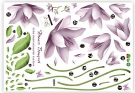 Muursticker bloemen wanddecoratie