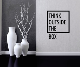 Muursticker think outside the box