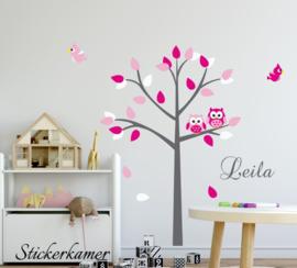 Wall sticker arbre filles chambre (rose)