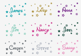 Muursticker naam met sterren disney