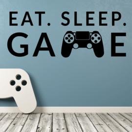 Muursticker eat sleep game controller kinderkamer jongen