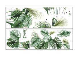 Muursticker tropische jungle palmblad