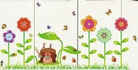 Muursticker gekleurde bloemen / planten  bos