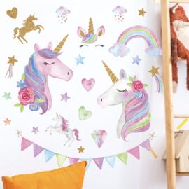 Unicorn stickers kinderkamer