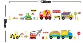 Muursticker auto voertuigen mix babykamer / kinderkamer