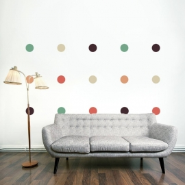 Muursticker  stippen polka dots cirkels
