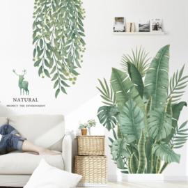 Muursticker planten groen botanisch