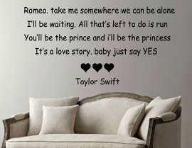 Love story muursticker Taylor Swift