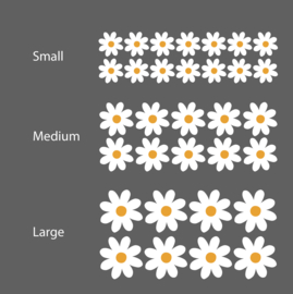 Muurstickers daisy flowers - bloemen