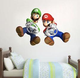 Muursticker Mario en Luigi kinderkamer