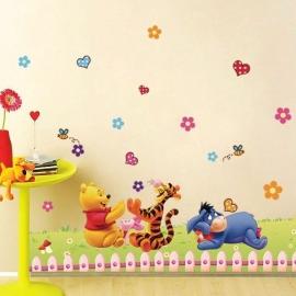 Muursticker  Winnie the Pooh kinderkamer / babykamer