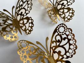 12 stuks gouden 3d vlinders muurdecoratie (7)