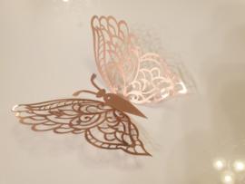 12 stuks rose gouden 3d vlinders muurdecoratie (8)