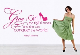 Marilyn Monroe. Give a girl the right shoes and she can conquer the world 1
