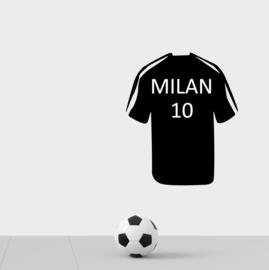 Muursticker voetbal shirt naam