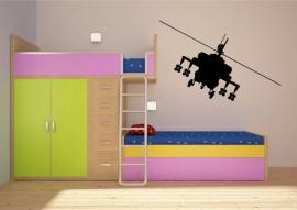 Stoere gevechts helikopter muursticker