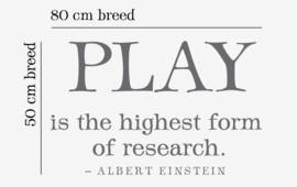 Play is the higest form of research albert einstein