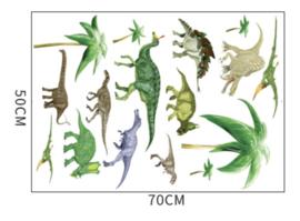 Muursticker dinosaurussen mix kinderkamer