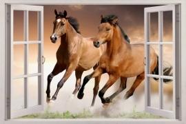 Paarden muursticker kinderkamer