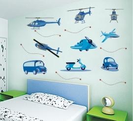 Voertuigen, helicopter (blauw)