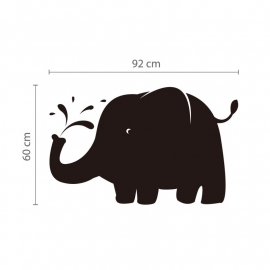 Olifant krijtbord blackboard sticker