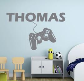 Muursticker gamer joystick / controller  jongenskamer