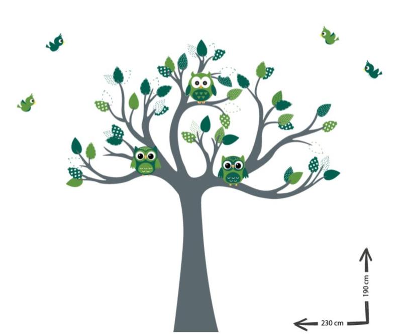 Muursticker op maat van broekhuijen Groen