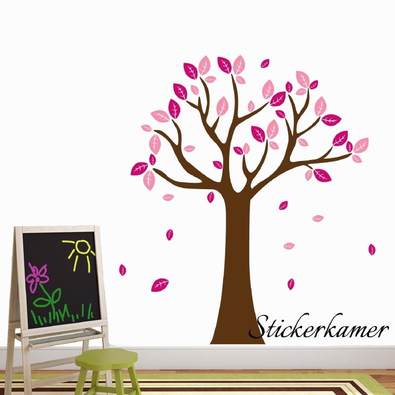 Muursticker boom XL ( donker roze + licht roze )