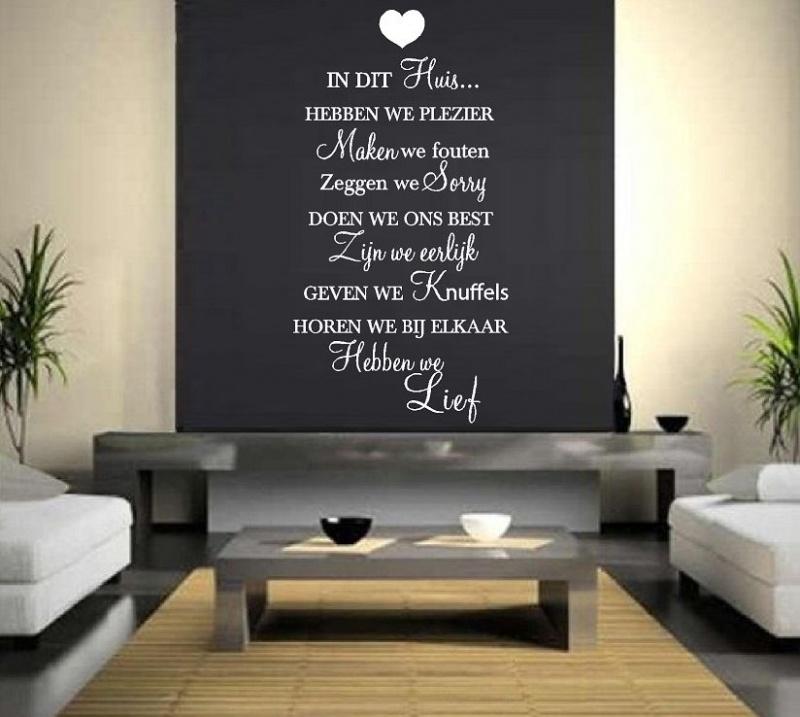 Huisregels tekst: In dit huis hebben we plezier....