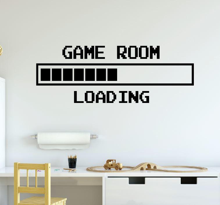 Muursticker gamer game room loading  jongenskamer