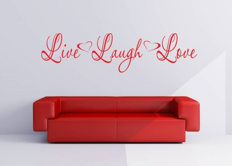 Live Laugh Love. Muursticker / Interieursticker