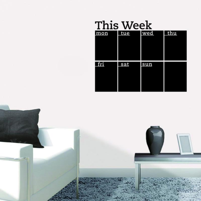 Muursticker krijtbord weekplanner this week zwart