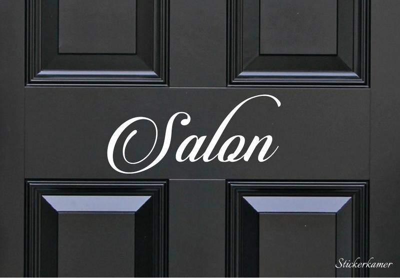 Decoratiesticker salon