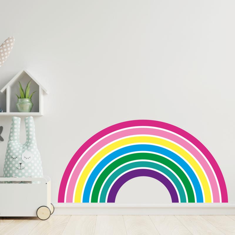 Muursticker regenboog zachte kleuren kinderkamer Large