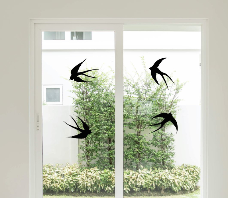 Muursticker zwaluw vogels raamsticker