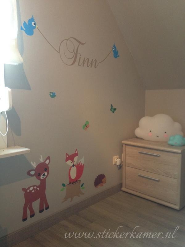 Muursticker bos dieren babykamer wand decoratie