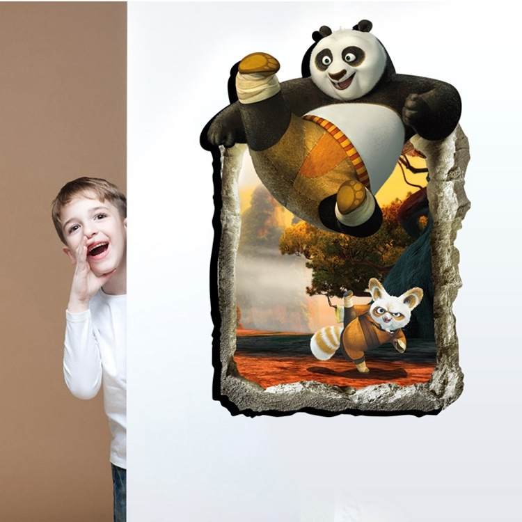 Muursticker kung fu panda met master shifu